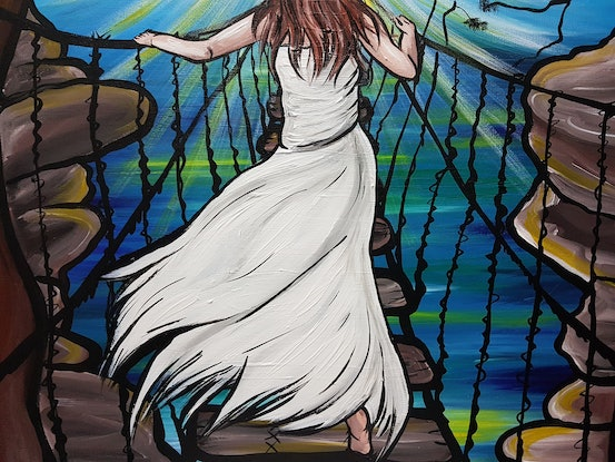 (CreativeWork) Brave Woman by Lisa Fahey. Acrylic Paint. Shop online at Bluethumb.