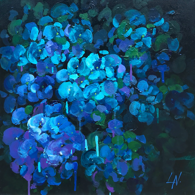 (CreativeWork) Blue Passion. by Lily Nova. Acrylic Paint. Shop online at Bluethumb.