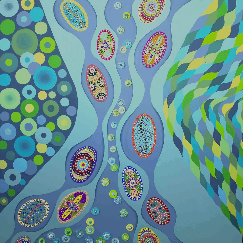 (CreativeWork) King Tide by Ornella Imber. Acrylic Paint. Shop online at Bluethumb.
