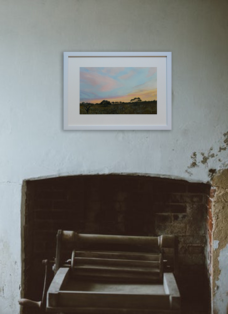 (CreativeWork) Near Sunset by Doodie Herman. arcylic-painting. Shop online at Bluethumb.