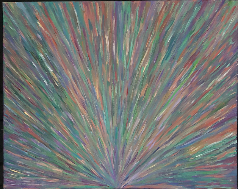 (CreativeWork) Colour Burst  by Jennifer Jarvis. arcylic-painting. Shop online at Bluethumb.