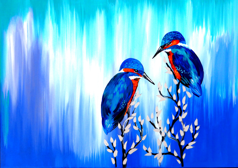 (CreativeWork) By Your Side by Mark Humphries. Acrylic Paint. Shop online at Bluethumb.