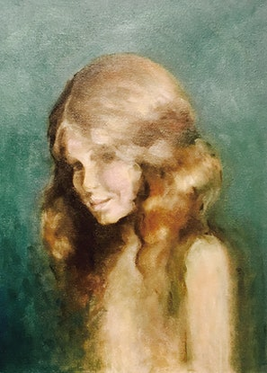 (CreativeWork) Young Impressionist Girl by Donna Christie. Oil Paint. Shop online at Bluethumb.