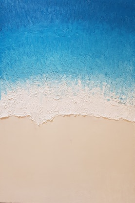 (CreativeWork) Tide - Manly Beach by John Lee. Oil Paint. Shop online at Bluethumb.