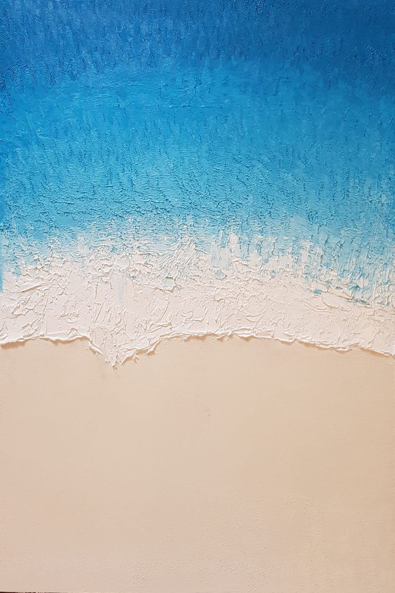(CreativeWork) Tide - Manly Beach by John Lee. oil-painting. Shop online at Bluethumb.