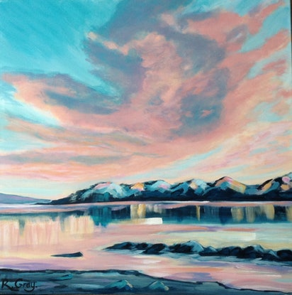 (CreativeWork) Sunset Trance  by Robyn Gray. Acrylic Paint. Shop online at Bluethumb.