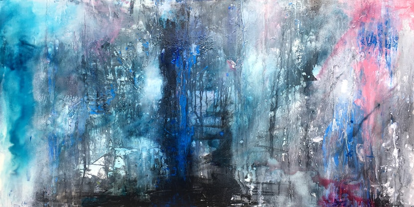 (CreativeWork) In The Silence by Lynne Godina-Orme. Acrylic Paint. Shop online at Bluethumb.