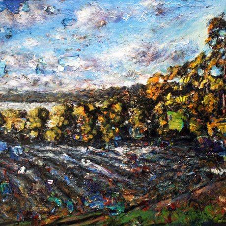 (CreativeWork) Canada Bay Midday by tomas maceiras. Acrylic Paint. Shop online at Bluethumb.