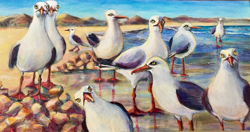 (CreativeWork) What you looking at? by Sue Hill. Acrylic Paint. Shop online at Bluethumb.
