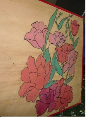 (CreativeWork) flowers by hina khan. Watercolour Paint. Shop online at Bluethumb.