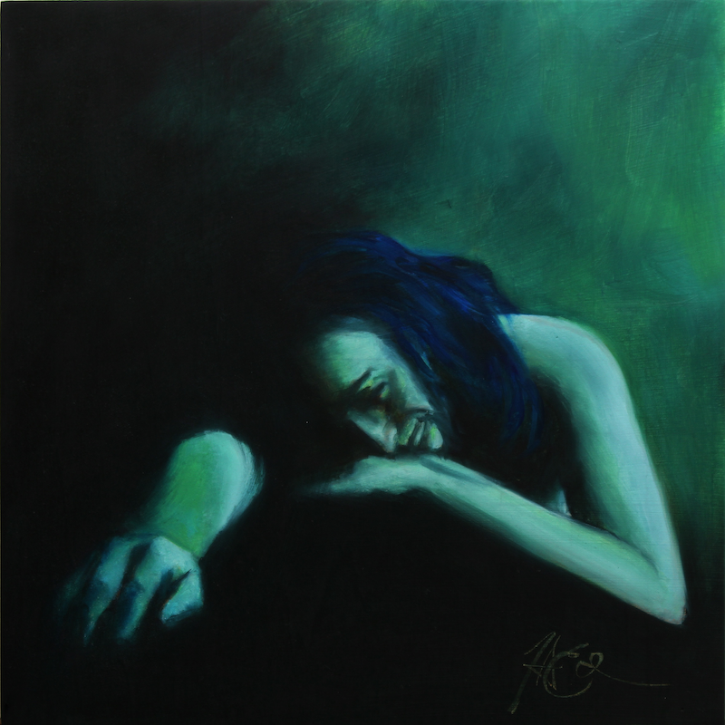 (CreativeWork) Tristitia by Tim Eden. oil-painting. Shop online at Bluethumb.