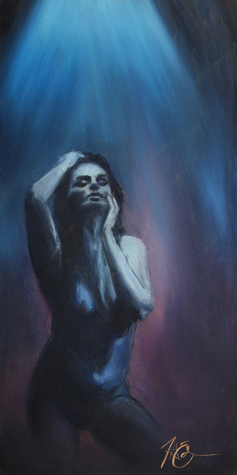 (CreativeWork) Fluxa by Tim Eden. oil-painting. Shop online at Bluethumb.