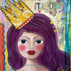 (CreativeWork) Stardust by Helen Syngaris. mixed-media. Shop online at Bluethumb.
