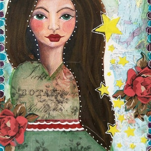 (CreativeWork) Hope full and free by Helen Syngaris. mixed-media. Shop online at Bluethumb.