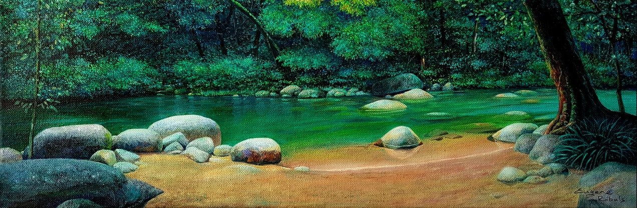 (CreativeWork) Serenity by Eugene Rubuls. Oil Paint. Shop online at Bluethumb.