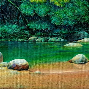 (CreativeWork) Serenity by Eugene Rubuls. oil-painting. Shop online at Bluethumb.