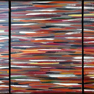 (CreativeWork) The Pass (Triptych) by Graham Eldridge. arcylic-painting. Shop online at Bluethumb.