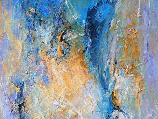 """(CreativeWork) """"Fish Out of Water"""" by Daniela Selir. Acrylic Paint. Shop online at Bluethumb."""