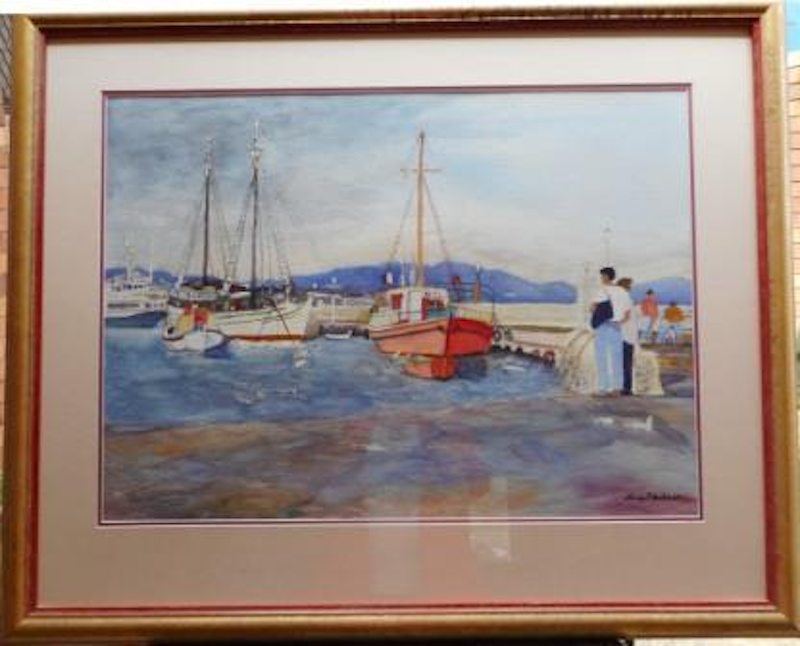 (CreativeWork) Mykonos Morning by Nancy Anderson. Watercolour Paint. Shop online at Bluethumb.