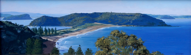 (CreativeWork) Barrenjoey Head, NSW by Lance Ross. oil-painting. Shop online at Bluethumb.