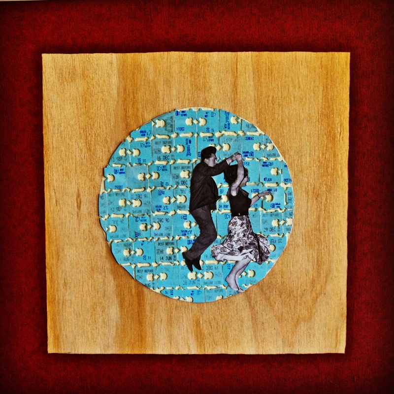 (CreativeWork) Dance Academy 1950 by Kelly Sullivan. mixed-media. Shop online at Bluethumb.
