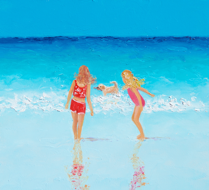 (CreativeWork) Water Play by Jan Matson. Oil Paint. Shop online at Bluethumb.