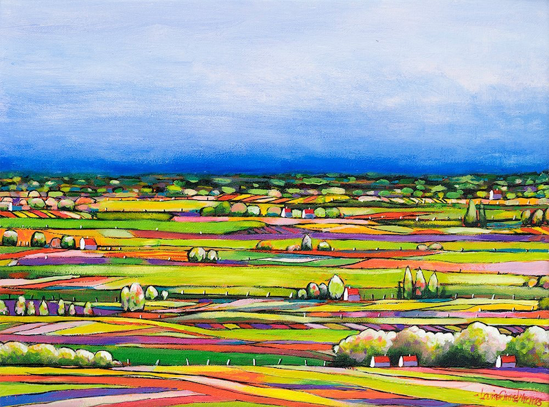 (CreativeWork) QUILTED LANDSCAPE 04 by LOUISE GROVE WIECHERS. Acrylic Paint. Shop online at Bluethumb.