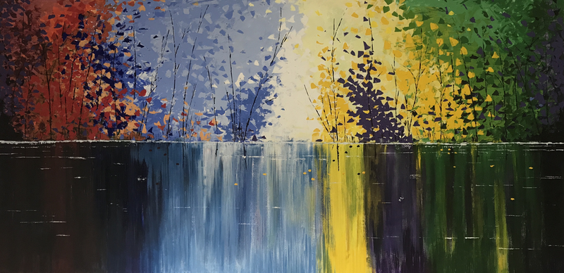 (CreativeWork) Deep in Reflection by Tom Roso. Acrylic Paint. Shop online at Bluethumb.