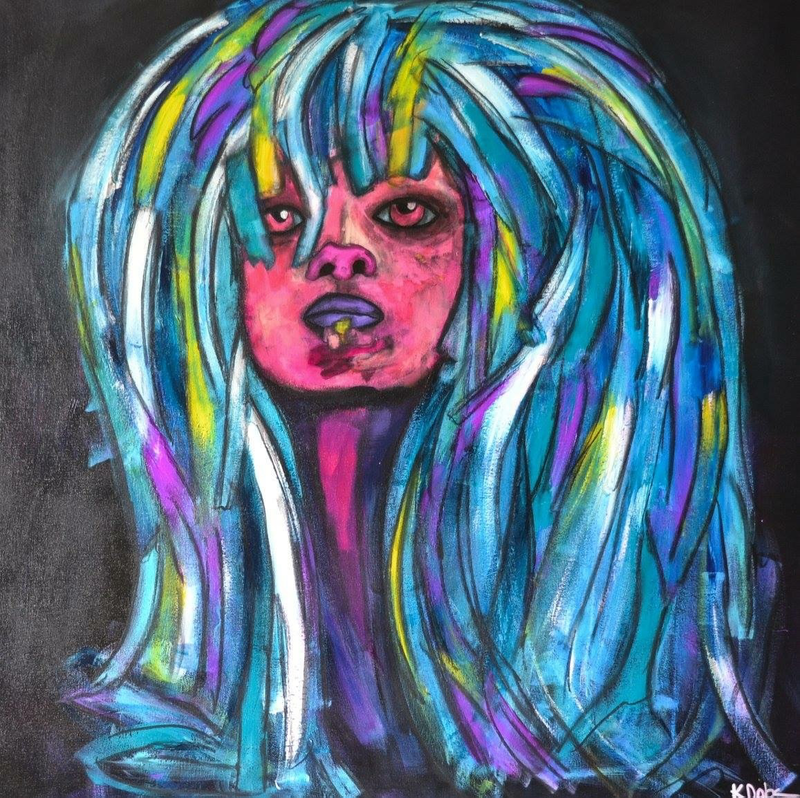 (CreativeWork) Amy by Katie Dobson. Acrylic Paint. Shop online at Bluethumb.