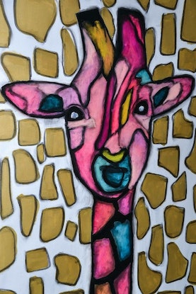 (CreativeWork) Chesnut by Katie Dobson. Acrylic Paint. Shop online at Bluethumb.