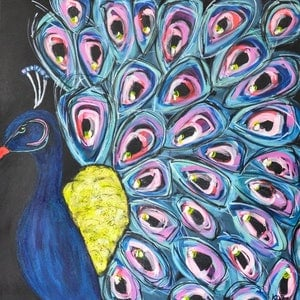 (CreativeWork) Shake Your Tailfeather  by Katie Dobson. arcylic-painting. Shop online at Bluethumb.