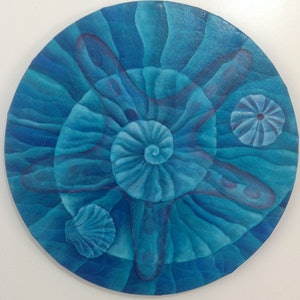 (CreativeWork) Sea Star by Barbara Vonk. oil-painting. Shop online at Bluethumb.