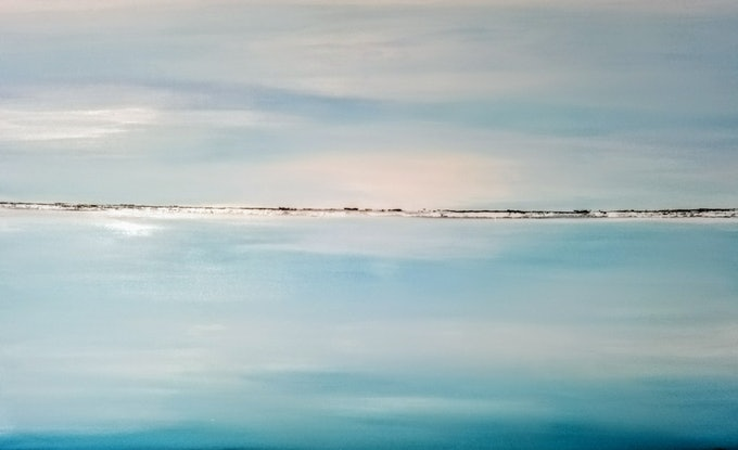 (CreativeWork) COMMISSIONED ARTWORK FOR MELISSA  CANCUN SEASCAPE by Josephine Ann Pitsiava. Mixed Media. Shop online at Bluethumb.