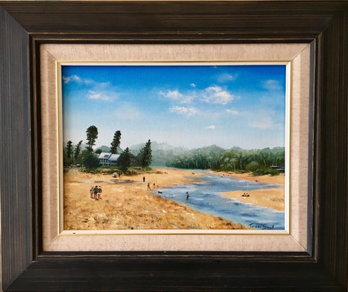 (CreativeWork) Afternoon at Avoca by Teresa Small. Oil Paint. Shop online at Bluethumb.