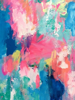 (CreativeWork) Fiesta by Anna Pontikis. Acrylic Paint. Shop online at Bluethumb.