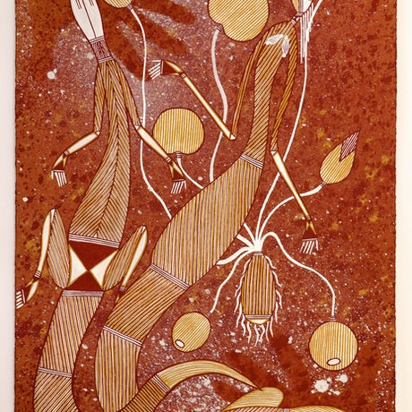 (CreativeWork) Rock Art Style   4760-18 by Michael Naborlhborlh. Other Media. Shop online at Bluethumb.