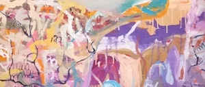 (CreativeWork) Roo's Land by Marinka Parnham. oil-painting. Shop online at Bluethumb.