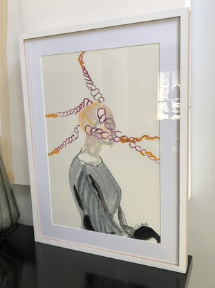 (CreativeWork) In the swing of it by Carla Foster. Oil Paint. Shop online at Bluethumb.