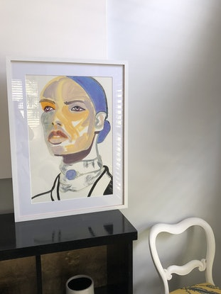 (CreativeWork) Strong woman by Carla Foster. Oil Paint. Shop online at Bluethumb.