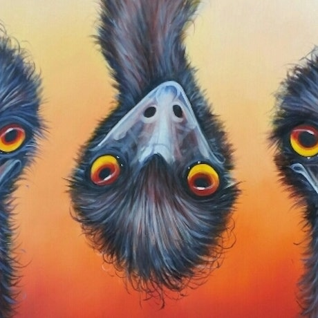 (CreativeWork) 3 Amigos by Craig Hilton-Barber. Oil Paint. Shop online at Bluethumb.