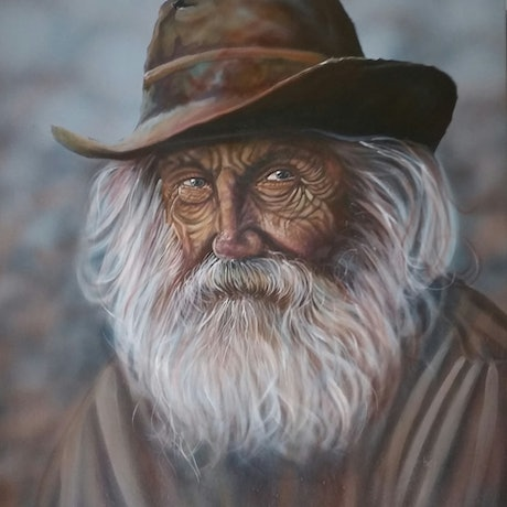 (CreativeWork) His story by Craig Hilton-Barber. Oil Paint. Shop online at Bluethumb.