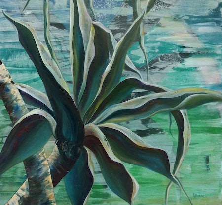 (CreativeWork) Pandanus Palm by Barbara Hardy. Acrylic Paint. Shop online at Bluethumb.