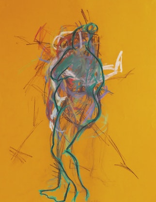 (CreativeWork) Life Drawing - Quick Sketches - Woman Standing - Colour by Ishbel Morag Miller. Drawings. Shop online at Bluethumb.