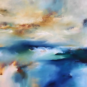 (CreativeWork) Rockpool Return by Joanne Duffy. oil-painting. Shop online at Bluethumb.