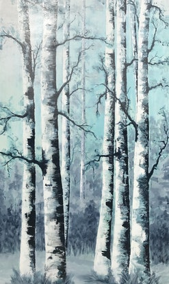 (CreativeWork) birch by Tom Roso. Acrylic Paint. Shop online at Bluethumb.