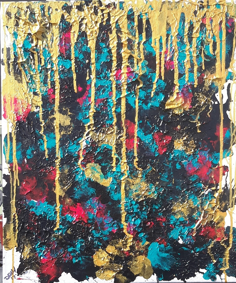 (CreativeWork) Black Opal & Gold    by DRM Vance. Mixed Media. Shop online at Bluethumb.