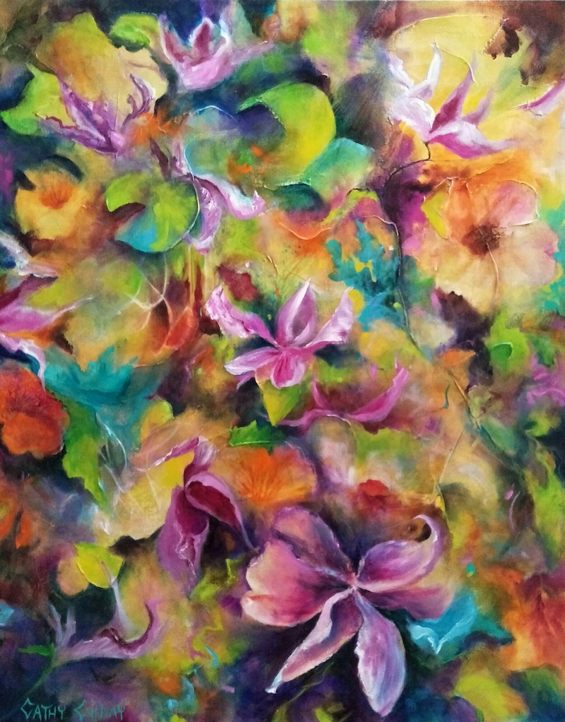 (CreativeWork) Bliss by Cathy Gilday. Acrylic Paint. Shop online at Bluethumb.