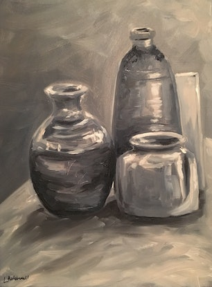 (CreativeWork) Study in Grey by Lyndsey Hatchwell. Oil Paint. Shop online at Bluethumb.
