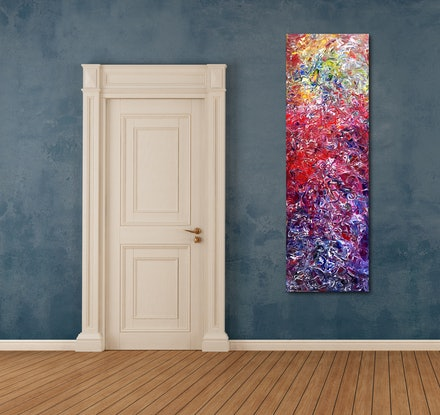 (CreativeWork) The Rising by Estelle Asmodelle. Acrylic Paint. Shop online at Bluethumb.