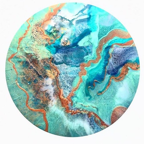 (CreativeWork) So far away from me. Original resin art by Trudy Lowndes. Resin. Shop online at Bluethumb.